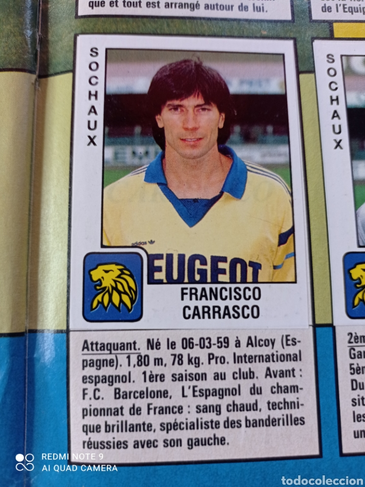Coleccionismo Álbumes: Album de fútbol Foot 90 en images. Panini ligue 1 (liga francesa) - Foto 25 - 258871330