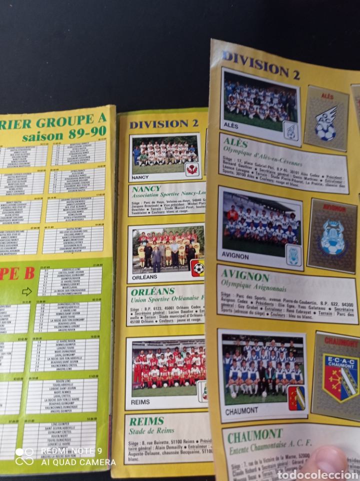 Coleccionismo Álbumes: Album de fútbol Foot 90 en images. Panini ligue 1 (liga francesa) - Foto 30 - 258871330