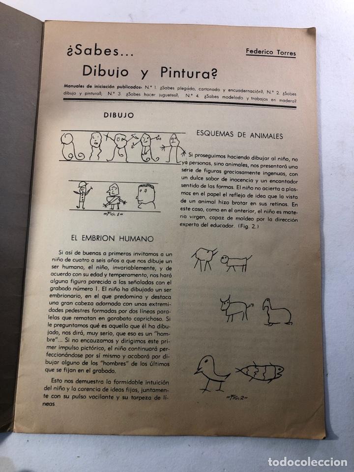 Coleccionismo Álbumes: SABES DIBUJO Y PINTURA? - Foto 2 - 260014995