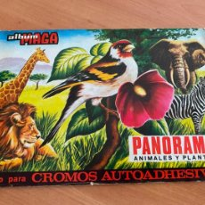 Coleccionismo Álbumes: PANORAMA ANIMALES Y PLANTAS. ALBUM MAGA CASI COMPLETO CON 242 DE 270 CROMOS (COIB119). Lote 261258770