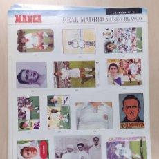 Coleccionismo Álbumes: MUSEO BLANCO REAL MADRID. MARCA. LÁMINAS SUELTAS. Lote 261781930