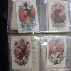 Collezionismo Album: LOTE 10 CROMOS ANTIGUOS REYES ESPAÑOLES CHOCOLATES JUNCOSA. Lote 262030070