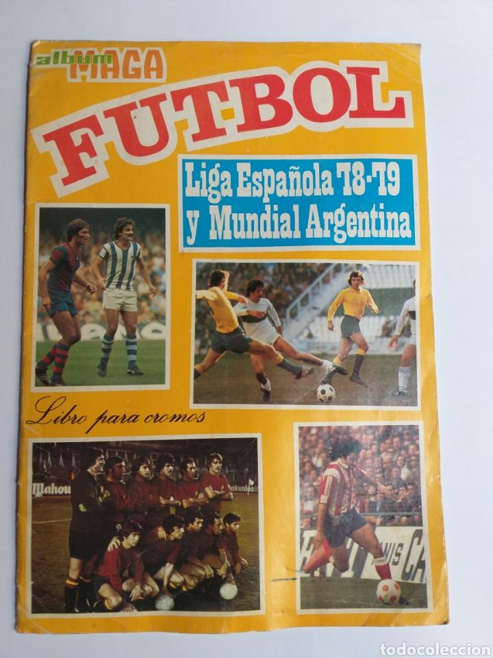 ÁLBUM MAGA FÚTBOL LIGA ESPAÑOLA 78-79 Y MUNDIAL ARGENTINA. INCOMPLETO (Coleccionismo - Cromos y Álbumes - Álbumes Incompletos)