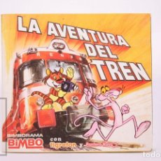 Coleccionismo Álbumes: ÁLBUM DE CROMOS INCOMPLETO - LA AVENTURA DEL TREN - BIMBO - TIGRETON, PANTERA ROSA - AÑO 1975. Lote 262580015