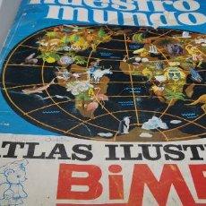 Coleccionismo Álbumes: ÁLBUM GIGANTE BIMBO NUESTRO MUNDO ATLAS ILUSTRADO INCOMPLETO FALTAN 19. Lote 262856900