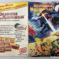 Coleccionismo Álbumes: ALBUM CROMOS DRAGONES Y MAZMORRAS. PACOSA DOS. 1985. INCOMPLETO, FALTAN 37 CROMOS. Lote 263293920