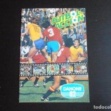 Coleccionismo Álbumes: ALBUM DE CROMOS, FUTBOL EN ACCION, DANONE 82, CONTIENE 2 CROMOS PEGADOS. Lote 265732854