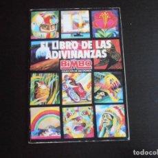 Coleccionismo Álbumes: ALBUM DE CROMOS, EL LIBRO DE LAS ADIVINANZAS BIMBO, CONTIENE 29 CROMOS PEGADOS. Lote 265733299