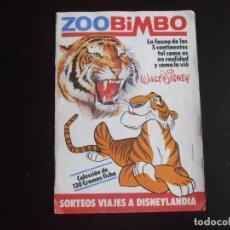 Coleccionismo Álbumes: ALBUM DE CROMOS, ZOO BIMBO, WALT DISNEY, FALTAN SOLO 5 CROMOS. Lote 265818679