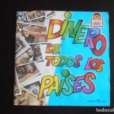 Coleccionismo Álbumes: ALBUM DE CROMOS, DINERO DE TODOS LOS PAISES, DIDEC, FALTAN SOLO 13 CROMOS. Lote 265818904
