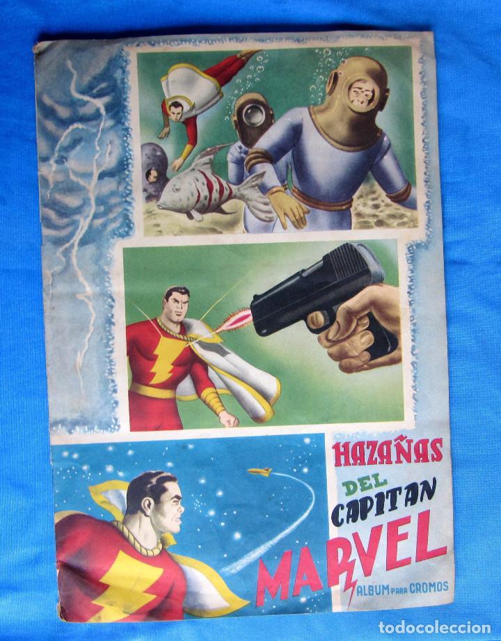 HAZAÑAS DEL CAPITÁN MARVEL. INCOMPLETO. FALTAN 2 CROMOS. EDITORIAL FHER, BILBAO, 1940'S (Coleccionismo - Cromos y Álbumes - Álbumes Incompletos)