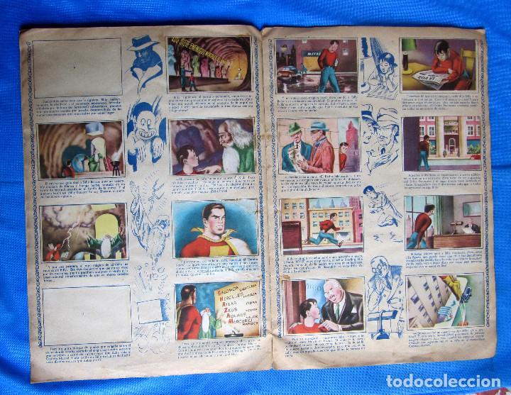 Coleccionismo Álbumes: HAZAÑAS DEL CAPITÁN MARVEL. INCOMPLETO. FALTAN 2 CROMOS. EDITORIAL FHER, BILBAO, 1940S - Foto 4 - 267754329