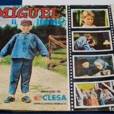 Coleccionismo Álbumes: ALBUM OBSEQUIO DE CLESA ( MIGUEL EL TRAVIESO ) FHER 1977 - YOGUR CLESA CON 45 CROMOS. VER FOTOS. Lote 267839089
