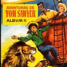 Coleccionismo Álbumes: ALBUM INCOMPLETO PLANCHA AVENTURAS DE TOM SAWYER ALBUM II CON DOS CROMOS SIN PEGAR CHOCOLATES OLLE. Lote 268410789