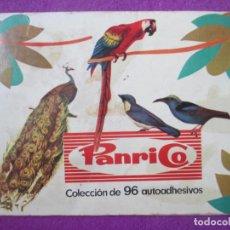 Coleccionismo Álbumes: ALBUM CROMOS DONUTS PANRICO PAJAROS 1972 TIENE 84 CROMOS. Lote 269219553