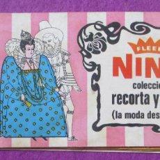 Coleccionismo Álbumes: ALBUM CROMOS FLEER NINA COLECCION RECORTA Y PEGA MODA DESDE EVA 1968 TIENE 65 CROMOS. Lote 269222183