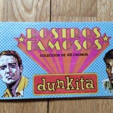 Coleccionismo Álbumes: ÁLBUM ROSTROS FAMOSOS. DUNKITA DUNKIN. Lote 269588923