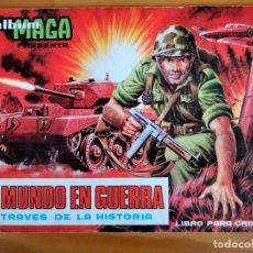 Coleccionismo Álbumes: ÁLBUM EL MUNDO EN GUERRA .MAGA. VACIO.. Lote 269598843