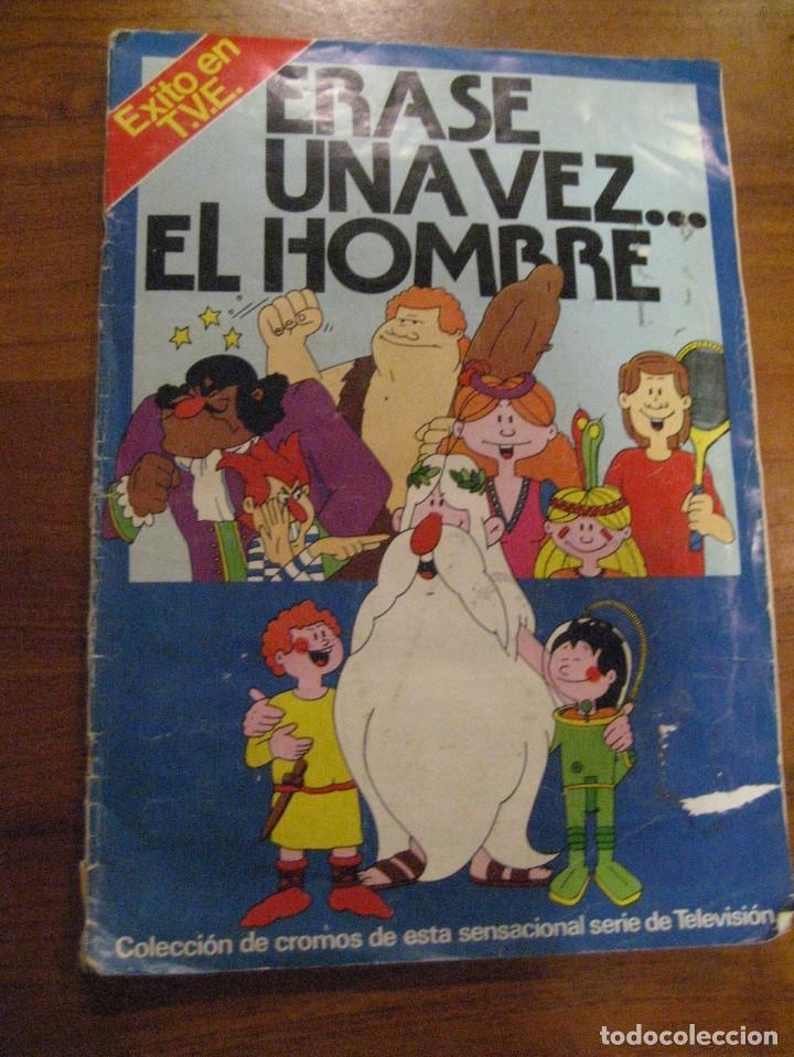 ALBUM CROMOS ERASE UNA VEZ EL HOMBRE ED PACOSA . INCOMPLETO 300 CROMOS (Coleccionismo - Cromos y Álbumes - Álbumes Incompletos)