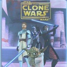 Coleccionismo Álbumes: ALBUM STAR WARS THE CLONE WARS CON 66 CROMOS AQUITIENESLOQUEBUSCA ALMERIA. Lote 270599858