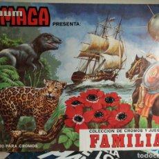 Coleccionismo Álbumes: ALBUM MAGA CROMOS Y JUEGOS DE FAMILIAS. Lote 271563983