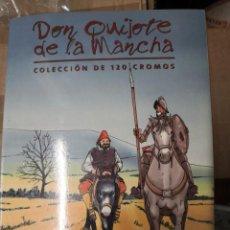 Coleccionismo Álbumes: ALBUM INCOMPLETO COLECCIÓN 120 CROMOS DON QUIJOTE DE LA MANCHA (DÍA, JSP, MILLAC) FALTAN 9.VER FOTOS. Lote 271880653