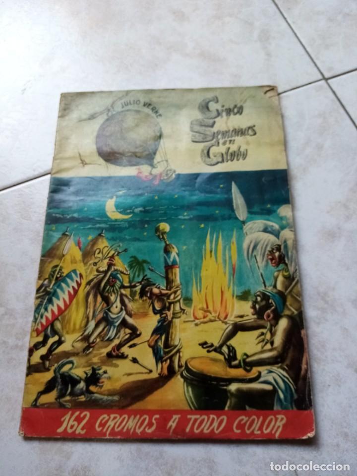 ALBUM DE CROMOS CINCO SEMANAS EN GLOBO / TORAY (Coleccionismo - Cromos y Álbumes - Álbumes Incompletos)