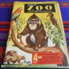Coleccionismo Álbumes: ÁLBUM ZOO INCOMPLETO CON 279 DE 368 CROMOS. CLIPER AÑOS 50. DIFÍCIL EN CORRECTO ESTADO.. Lote 279431318