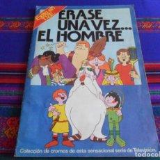 Coleccionismo Álbumes: ÉRASE UNA VEZ EL HOMBRE ÉXITO EN TV INCOMPLETO FALTAN 43 DE 400 CROMOS. PACOSA DOS 1978. DIFÍCIL.. Lote 279435323