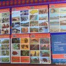 Coleccionismo Álbumes: CON PÓSTER PROGRAMA DE LA COLECCIÓN LOTE 55 LÁMINAS DISITINTAS AUTOADHESIVAS DIDEC ENTRE Nº 8 Y 80. Lote 279449813