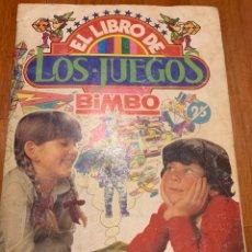 Coleccionismo Álbumes: EL LIBRO DE LOS JUEGOS BIMBO CON 138 CROMOS. Lote 280217428