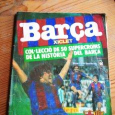 Coleccionismo Álbumes: ÁLBUM CROMOS BARÇA XICLET (HISTÒRIA DEL BARÇA), GENERAL DE CONFITERIA, 45 DE 50 CROMOS.1983.MARADONA. Lote 285048413