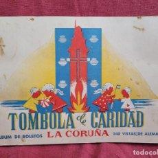 Coleccionismo Álbumes: ÁLBUM DE BOLETOS TÓMBOLA DE CARIDAD LA CORUÑA. Lote 285240178