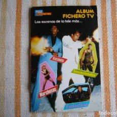 Coleccionismo Álbumes: TELE INDISCRETA ALBUM FICHERO TV FALTA SOLO 1 CROMO. Lote 286060093