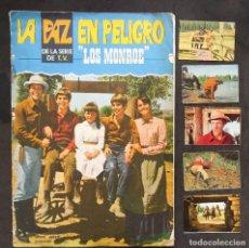 """Coleccionismo Álbumes: LOS MONROE """"LA PAZ EN PELIGRO"""" ALBUM + 5 CROMOS FHER. Lote 286355558"""