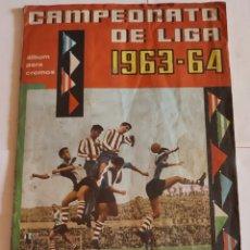 Coleccionismo Álbumes: ALBUM INCOMPLETO CAMPEONATO DE LIGA 1963-1964. Lote 286358243