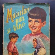 Coleccionismo Álbumes: ÁLBUM CROMOS MARCELINO PAN Y VINO 95% COMPLETO FHER 1955. Lote 286869618