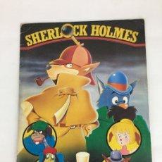 Coleccionismo Álbumes: ÁLBUM DE CROMOS INCOMPLETO - SHERLOCK HOLMES. SERIE DE TV A FALTA DE 29 CROMOS. Lote 287230118