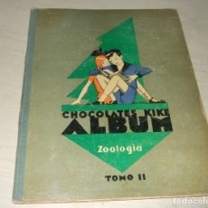 Coleccionismo Álbumes: ALBUM DE CROMOS CHOCOLATES KIKE ZOOLOGIA - TOMO II - AÑOS 30 - INCOMPLETO. Lote 287477868