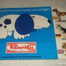 Coleccionismo Álbumes: ALBUM DE CROMOS COLECCION PERROS - DONUTS - PANRICO - INCOMPLETO. Lote 287479323