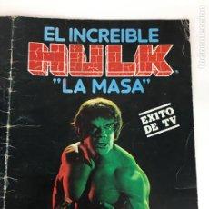 Coleccionismo Álbumes: ALBUM DE CROMOS EL INCREÍBLE HULK LA MASA DE FHER A FALTA DE 12 CROMOS. Lote 287549423