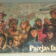 Coleccionismo Álbumes: ALBUM PAREJAS FAMOSAS DE ORTIZ AÑOS 70. Lote 287798593