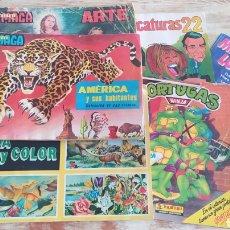 Coleccionismo Álbumes: LOTE 6 ALBUMES CROMOS - IMCOMPLETOS - ANTIGUOS - VINTAGE. Lote 288177008