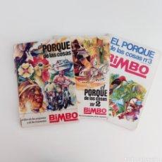 Coleccionismo Álbumes: LOTE 3 ÁLBUMS DE EL PORQUÉ DE LAS COSAS 1, 2 Y 3 BIMBO INCOMPLETOS. Lote 290093143