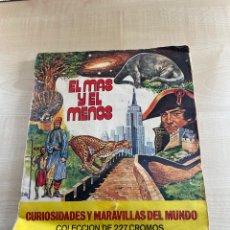 Coleccionismo Álbumes: ÁLBUM INCOMPLETO EL MÁS Y EL MENOS. Lote 294832198
