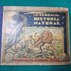Coleccionismo Álbumes: ALBUM HISTORIA NATURAL CHOCOLATE JUNCOSA. CONTIENE 518 CROMOS DE 596. AÑO 1935. Lote 295789808