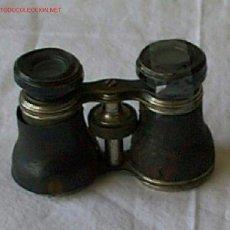 Antigüedades: PRISMATICO METAL Y CUERO. Lote 26416507