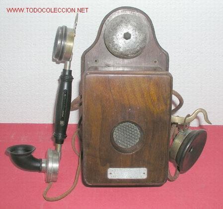 TELEFONO DE PARED C1920 (Antigüedades - Técnicas - Teléfonos Antiguos)