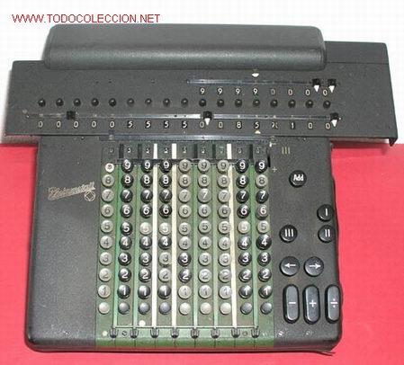 CALCULADORA ANTIGUA RHEINMETALL (Antigüedades - Técnicas - Aparatos de Cálculo - Calculadoras Antiguas)