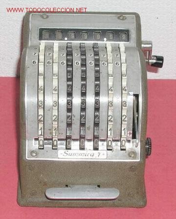 SUMADORA SUMIRA 7 (Antigüedades - Técnicas - Aparatos de Cálculo - Calculadoras Antiguas)